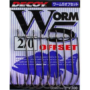 Крючок Decoy Worm5 Offset 04, 9 шт/уп